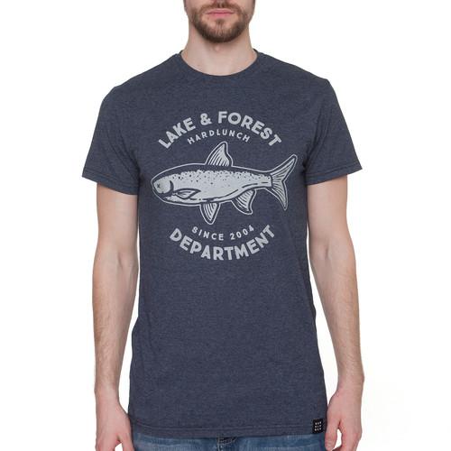 Футболка HARDLUNCH Forest F11/1 (Indigo Melange, 2XL) футболка hardlunch travel f11 1 light grey melange 2xl