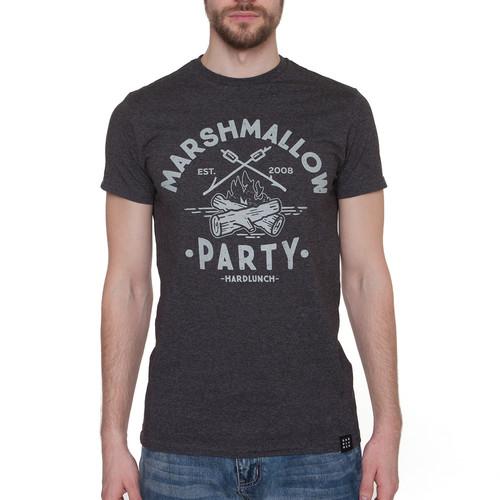 Футболка HARDLUNCH Marshmallow F11/1 (Antracit Melange, 2XL) футболка hardlunch travel f11 1 light grey melange 2xl
