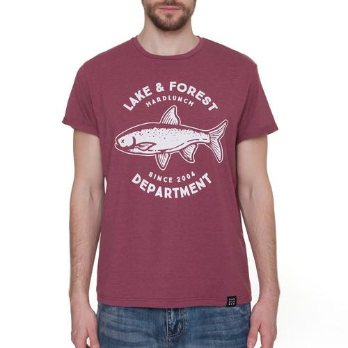 Футболка HARDLUNCH Forest F15 (Bordo Melange, XL) футболка hardlunch travel f11 1 light grey melange 2xl