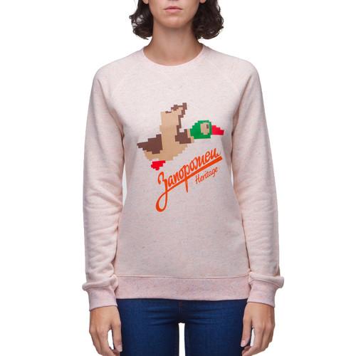 Толстовка ЗАПОРОЖЕЦ 86 Бит женская (Розово-Бежевый Меланж, L) толстовка запорожец лого 2v женская кремовый меланж нопэ l
