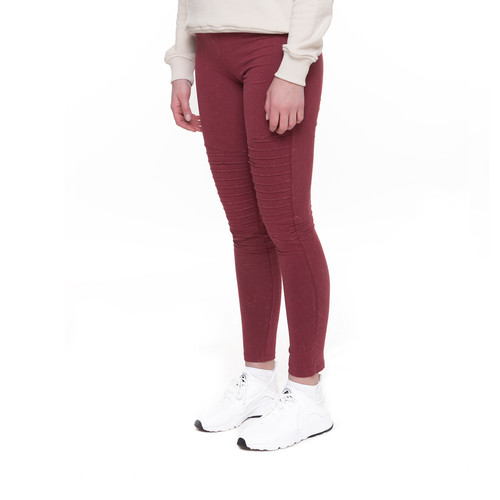 Леггинсы URBAN CLASSICS Ladies Denim Jersey Leggings (Burgundy, L) леггинсы urban classics ladies bandana leggings black white l