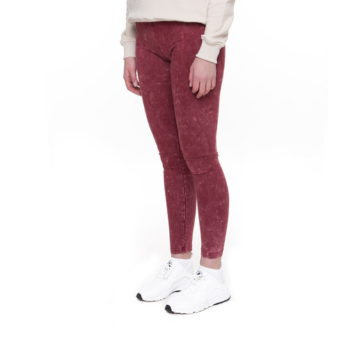 Леггинсы URBAN CLASSICS Ladies Acid Wash Leggings (Burgundy, L)