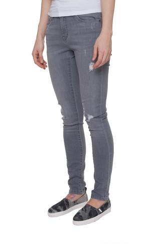 Джинсы URBAN CLASSICS Ladies Ripped Denim Pantst женские (Grey, 30) джинсы urban classics ladies boyfriend denim pants ocean blue 29