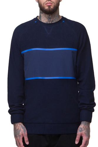 Толстовка CROOKS & CASTLES Iron Crew Sweatshirt (Navy, S)