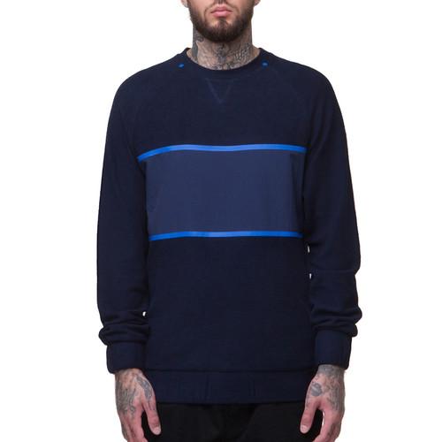Толстовка CROOKS & CASTLES Iron Crew Sweatshirt (Navy, S)