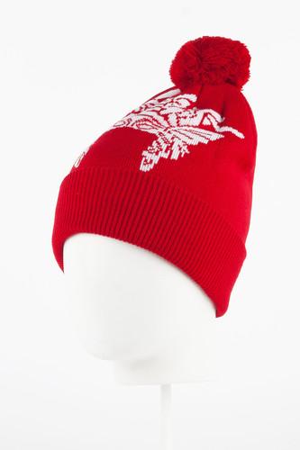 Шапка CROOKS & CASTLES Bandusa Pom Beanie (True Red) шапка nixon smoky beanie red paper