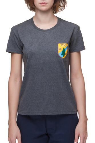 Футболка МЕЧ AT W TS - Shield женская (Серый, M)