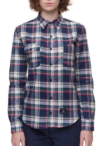 купить Рубашка МЕЧ AT-W - Checks женская (Синий/Белый, XS) дешево