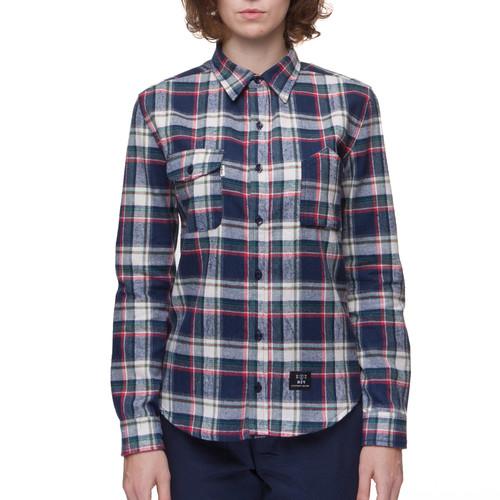 Рубашка МЕЧ AT-W - Checks женская (Синий/Белый, XS) фуфайка женская guahoo цвет синий фиолетовый g23 1601s nv vt размер xs s 42 44