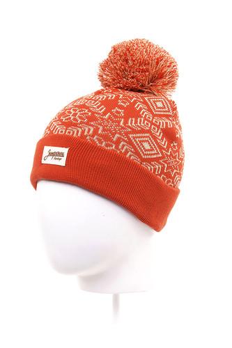 Шапка с помпоном детская ЗАПОРОЖЕЦ Карпаты (Red-1-6) шапка с помпоном запорожец камо grey orange