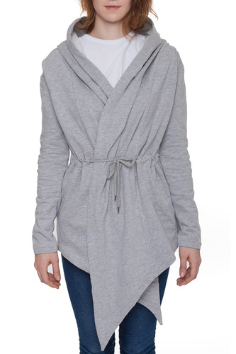 Кардиган URBAN CLASSICS Ladies Hooded Sweat Cardigan (Grey, L)