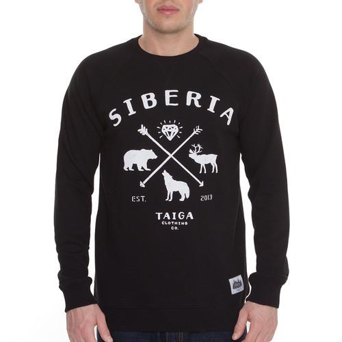 Толстовка ТАЙГА Siberia (Черный, XL) толстовка мужская karff цвет черный синий 93031 04 размер xl 54