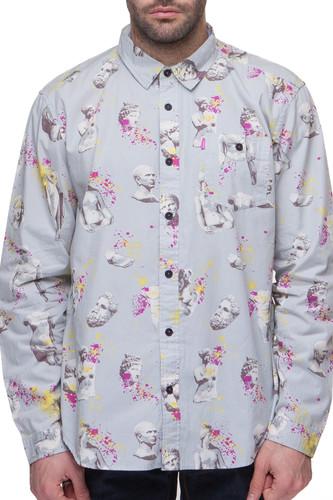 Рубашка MISHKA Ruins Button UP (Light Grey, L)