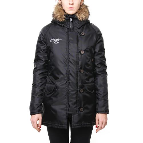 Куртка HARDLUNCH Hungry женская (Black, L)