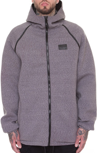 Куртка CROOKS & CASTLES Blotter Reversible Parka (Black-Speckle Grey, XL)
