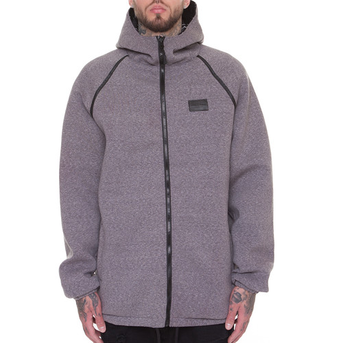 Куртка CROOKS & CASTLES Blotter Reversible Parka (Black-Speckle Grey, XL)
