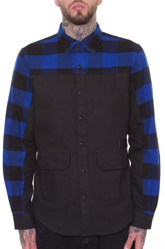 Рубашка CROOKS & CASTLES Parker L/S Shirt (Black, XL) цена 2017