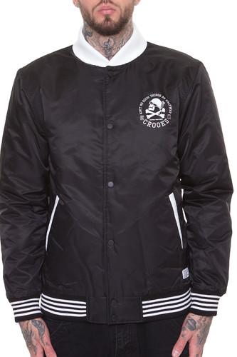 Куртка CROOKS & CASTLES Members Bomber Jacket (Black, XL)