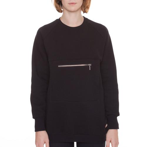 Толстовка ONE TWO Черника с Карманом женская (Черный, S) футболка one two клиф женская черный m