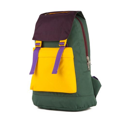 Рюкзак GOSHA OREKHOV Citypack M (Зеленый/Желтый/Ежевичный-01374)
