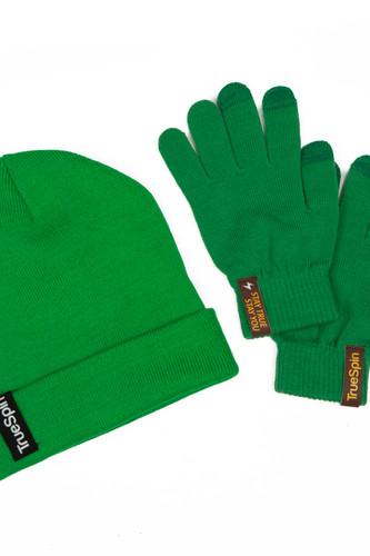 Пак TRUESPIN шапка + перчатки (Green)