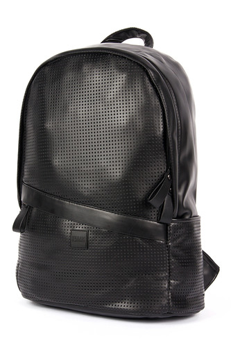 Рюкзак URBAN CLASSICS Perforated Leather Imitation Backpack (Black)