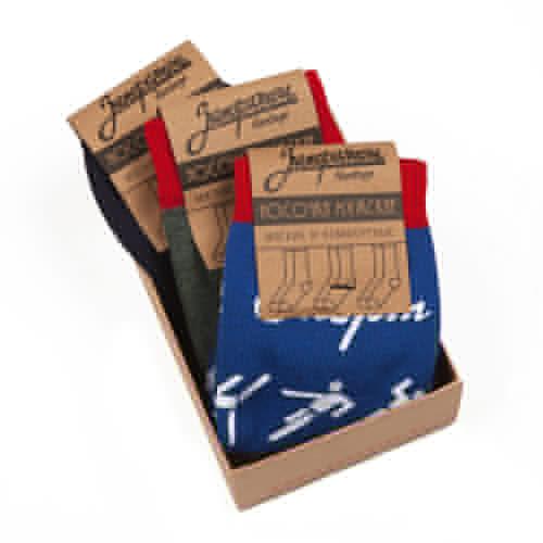 Носки ЗАПОРОЖЕЦ Комплект Спорт (Синий-Хаки-Синий-3 пары, O/S) цены онлайн