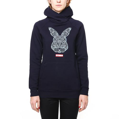 Толстовка RITMIKA Bunny женская (Синий, S)