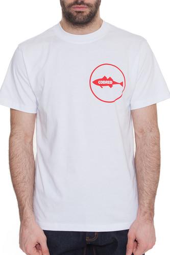 Футболка CODERED Regular Logo CODERED CR12434 (Белый, L) футболка codered t glyphglitch logo красный xs