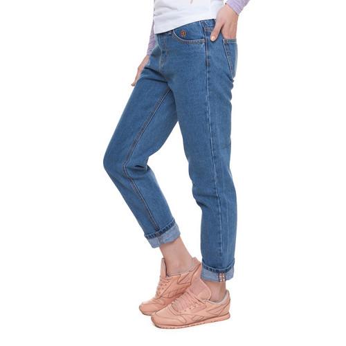 Джинсы ЗАПОРОЖЕЦ Ladies Denim Zap Boyfriend Flex женские (Regular Blue, 30) джинсы лагерфельд женские