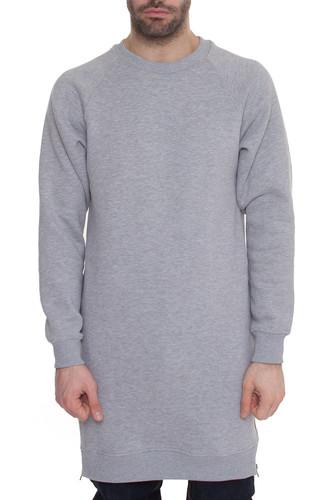 Толстовка SKILLS Long Sweatshirt (Серый Меланж, S)