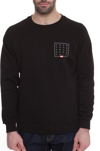 Толстовка SKILLS Slogan Quad Sweatshirt (Черный, XL)