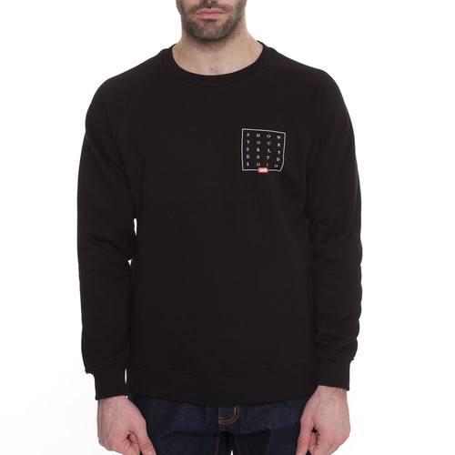 Толстовка SKILLS Slogan Quad Sweatshirt (Черный, XL) толстовка мужская karff цвет черный синий 93031 04 размер xl 54