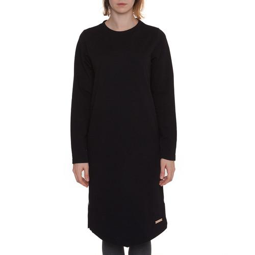 Платье ONE TWO Черника с молниями (Черный, M)