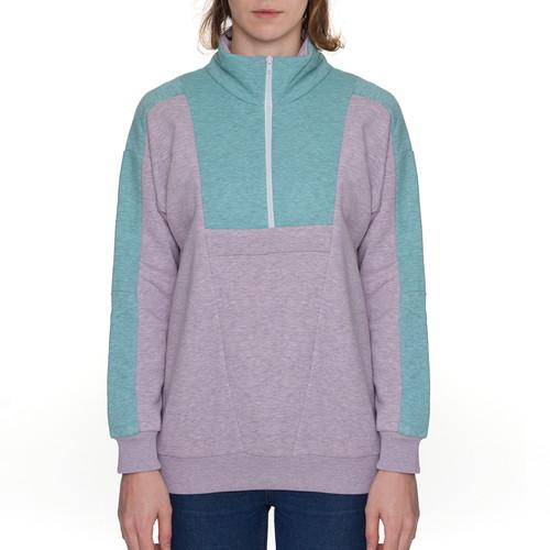 Олимпийка ONE TWO Гимнастика Меланж женская (Ментол/Розовый, M) футболка one two клиф женская черный m