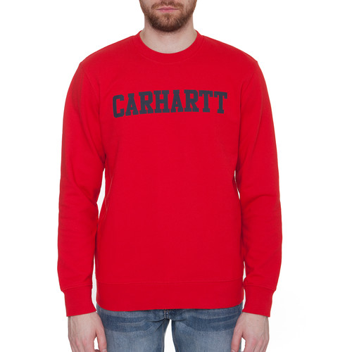 Толстовка CARHARTT College Sweatshirt (Chili/Navy, 2XL) шляпа carhartt wip i022801 navy white