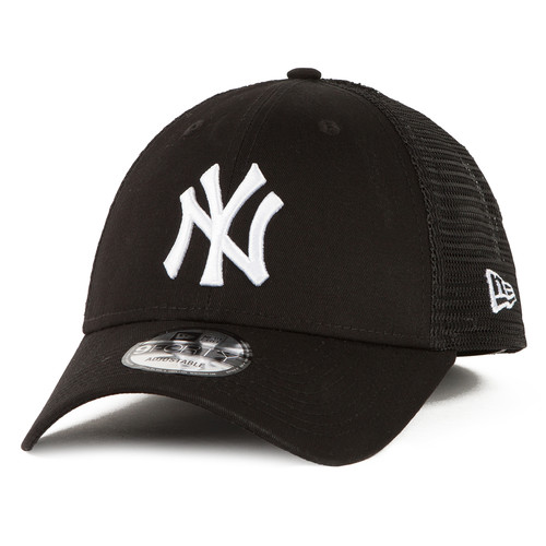 Бейсболка NEW ERA Core 9Forty Trucker Neyyan Blk Baseball cap (Черный, O/S) бейсболка new era 232 ne patch 9forty ne цвет красный 11874996 hrd размер универсальный