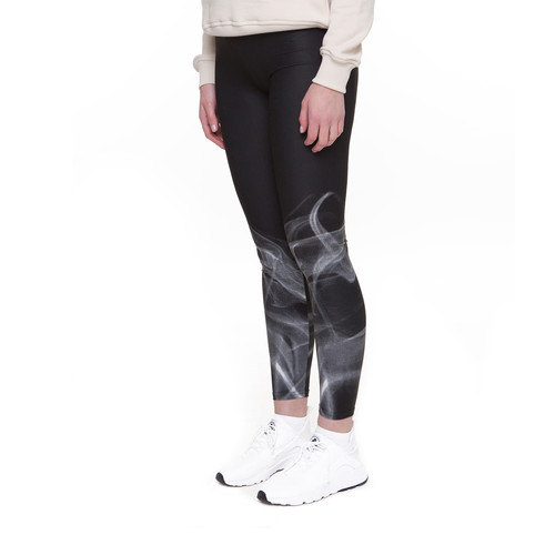 Леггинсы URBAN CLASSICS Ladies Smoke Leggings (Black/White, S)