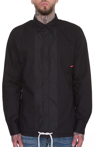 Лонгслив CROOKS & CASTLES Chequered L/S Shirt (Black, XL)