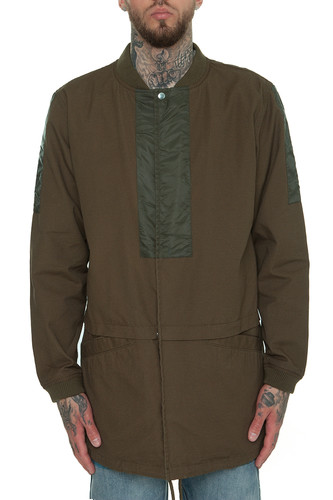 Куртка CROOKS & CASTLES Raptor Longline Bomber Jacket (Rifle Green, M)