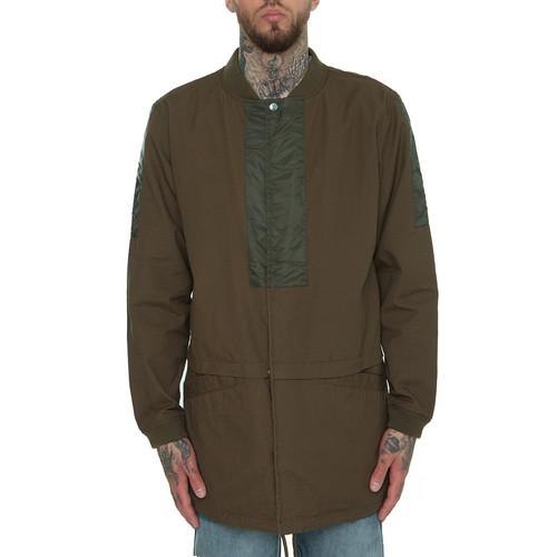 Куртка CROOKS & CASTLES Raptor Longline Bomber Jacket (Rifle Green, M) color block longline dress