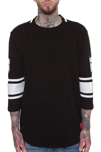 Толстовка CROOKS & CASTLES Toecutter 3/4 Slv Football Jersey (Black, 2XL)