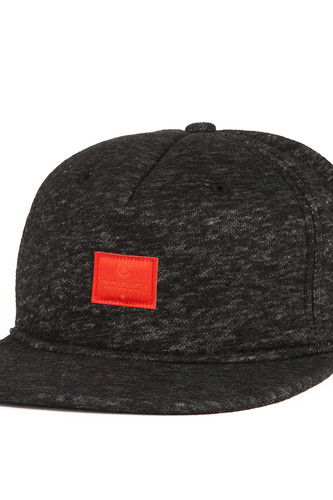 Бейсболка CROOKS & CASTLES Crks Label Snapback Cap (Black, O/S)
