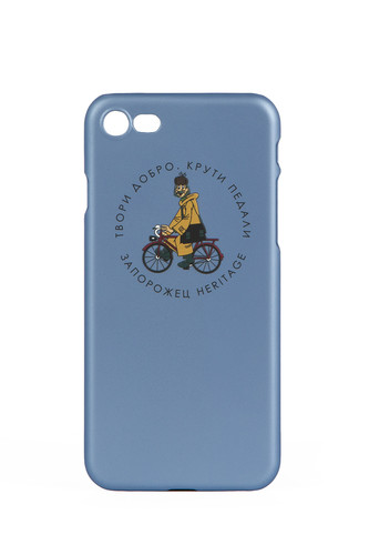 Чехол ЗАПОРОЖЕЦ Простоквашино Печкин (Голубой, IPhone 7+) цена и фото