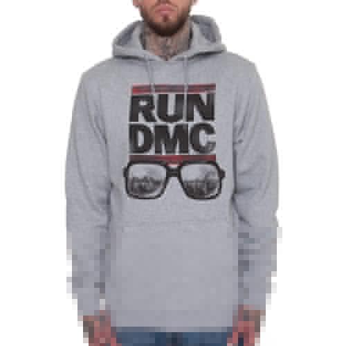 цена Толстовка MISTER TEE RUN DMC City Glasses Hoody (Heather Grey, XL) в интернет-магазинах