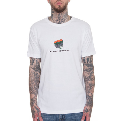 Футболка MISTER TEE Shoebox Tee (White, XS) men smoke print tee