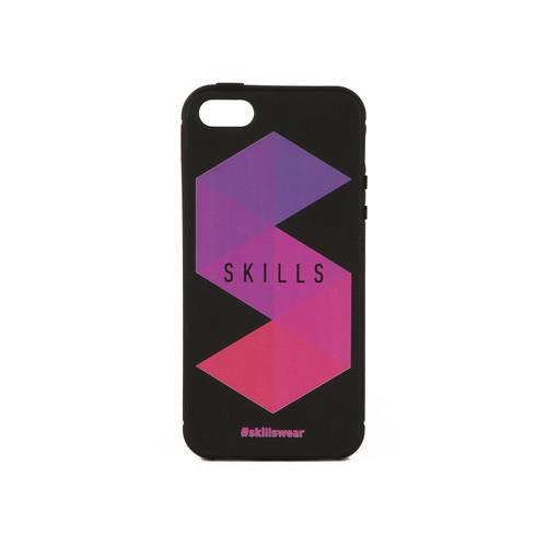 Чехол SKILLS Треугольники (Черный, IPhone 7) красочные цветы шаблон мягкий тонкий тпу резиновая крышка силиконовый гель чехол для iphone 5 5s 5se