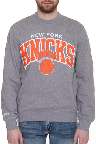 Толстовка MITCHELL&NESS NBA Ny Knicks Arch Sweat (Heather Grey, M)