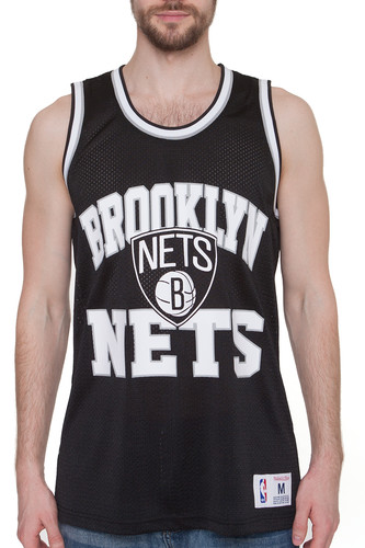 Майка MITCHELL&NESS NBA Brooklyn Nets Drop Step Tank (Black, L) майка mitchell