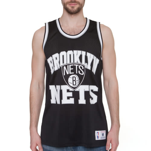 Майка MITCHELL&NESS NBA Brooklyn Nets Drop Step Tank (Black, L) цена
